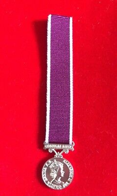 Army Long Service & Good Conduct LSGC Medal EIIR Miniature Superb With Ribbon
