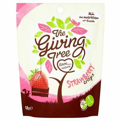 The Giving Tree Freeze Dried Strawberry Crisps 18g