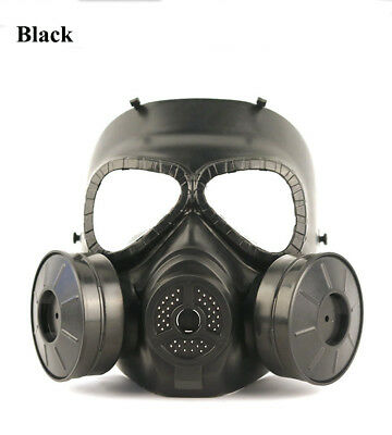 Gas Mask Double Filter Fan Perspiration Dust Eye Protect Face Guard A+