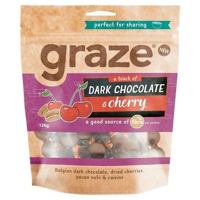 Graze Dark Chocolate Cherry Tart 129g