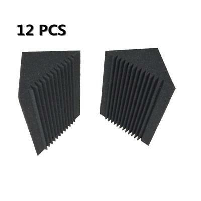 Sound Absorption Studio Foam Black Corner Bass trap Acoustic Foam 12 PCS
