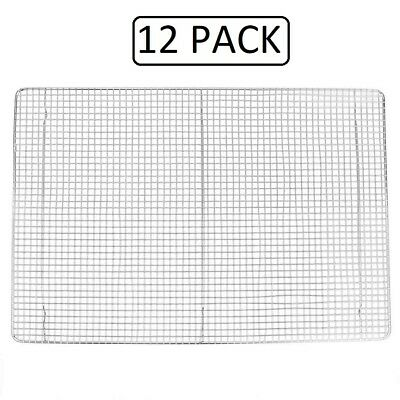"""12 PACK Footed Cooling Rack for Bun/Sheet Pan 16"""" x 24"""" Full Size Commercial"""