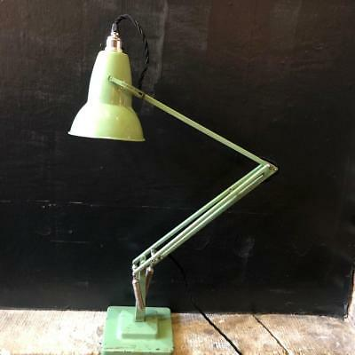 Vintage Herbert Terry George Carwardine Green Anglepoise Lamp Light #2410