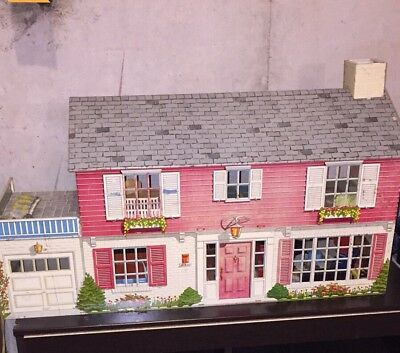 vintage metal dollhouse 1950's And Furniture
