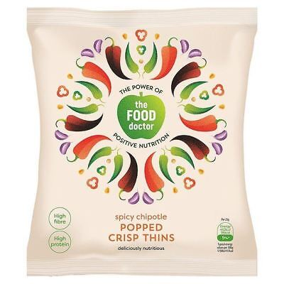 The Food Doctor Spicy Chipotle Corn & Soy Crisp Thins 23g