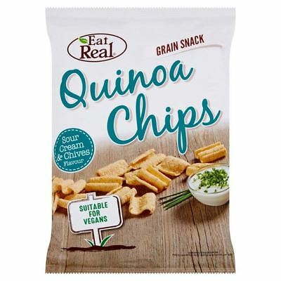Eat Real Quinoa Sour Cream & Chive Flavoured Chips 80g