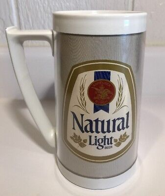 Vintage 1980's Anheuser Busch Natural Light Thermo-Serve Insulated Beer Mug