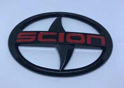 For Scion large Black red logo Emblem Badge Sticker decal tC xA xB Front Grille