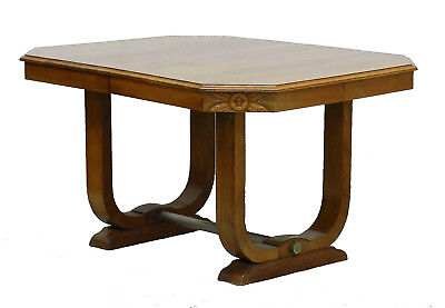 Art Deco Dining Table French 1930 Sue et Mare Style Desk Center Table Walnut