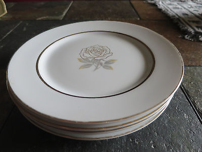 Rosa by Rose (Japan) China Salad Plate lot of 4
