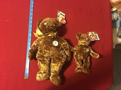 Ty United States FIFA World Cup 2002 Korea Japan Bear Buddies Beanie Babies NWT