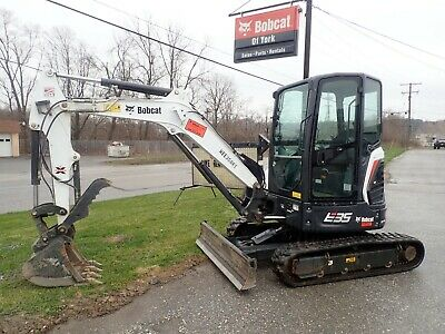 2017 Bobcat E35i Mini Excavator, 105 Hrs!, Cab, AC/Heat, 2 Spd, X-Change Coupler