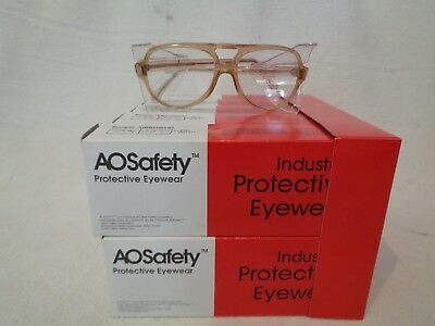 Lot of 10 American Optical AO Vintage Safety Glasses W/ Side Shield NOS Flex Fit