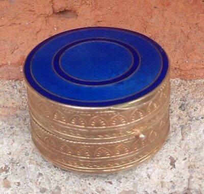 Vintage French Enamel Double Sided Rouge/Pill Box