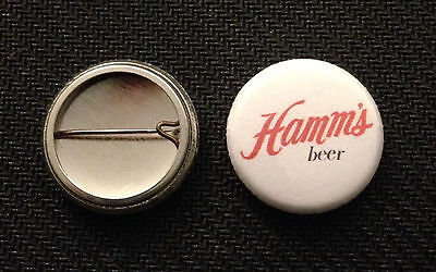 "Hamm's Beer Logo 1"" pin button - Free Shipping - Hamms - Buy 2 Get 1 Free"