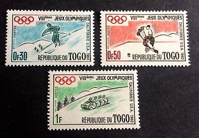 Olympic Games- 3 nice old mint stamps Togo 1960