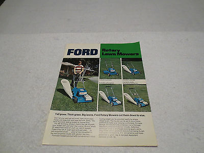 Vintage Ford Rotary Lawn Mowers Sales Literature Brochure