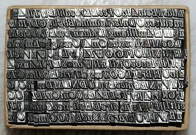 12pt Roman Italic   Part Font Metal  Letterpress Type   #  Adana 8 x 5 user  #