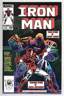 Iron Man #200 Vf Very Fine 1St Appearance Of Iron Monger Marvel Comics 1985 (B)