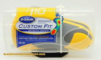 NEW - Dr Scholls CF 110 Custom Fit Orthotic Inserts - YELLOW - Free Shipping