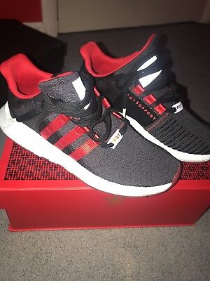 brand new 28403 fc012 Adidas EQT Support 9317 Yuanxiao  DB2571  Men Mesh Boost Carbon Black  Scarle