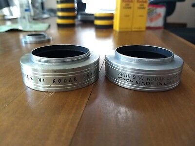 set of 2 Kodak Series VI lens hoods - free shipping