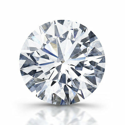 Loose moissanite  stone round cut 8 mm millimeters 2 ct carat carats D color col