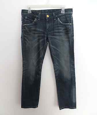 Lady Lee Riders size 27 blue denim wash straight jeans