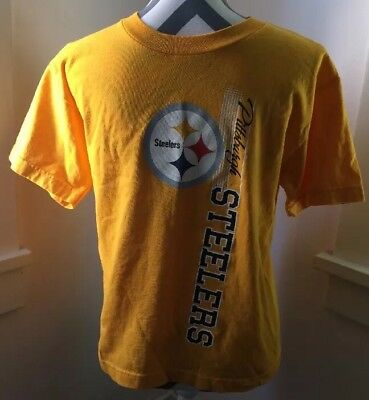 4589d45ec9619 PITTSBURGH STEELERS T-SHIRT Boys Youth Large Nfl Team Apparel New ...