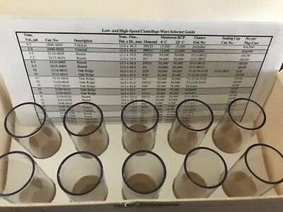 Thermo Scientific Round-bottom Centrifuge Tube, 3117-0500, 50 mL Tube, 10 /Pack