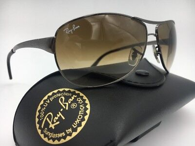 1a15c0333a8b2 RAY BAN RB 3342 Warrior 004 51 60  12 2N Authentic Sunglasses Brown ...