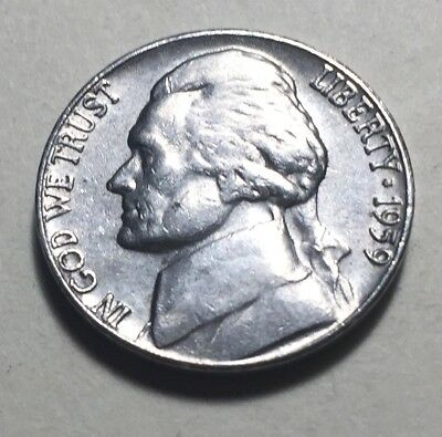United States 1959 Jefferson Five Cents (Nickel) Coin