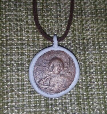 Authentic Eastern Roman Empire Byzantine Jesus Christ Coin Pendant Necklace