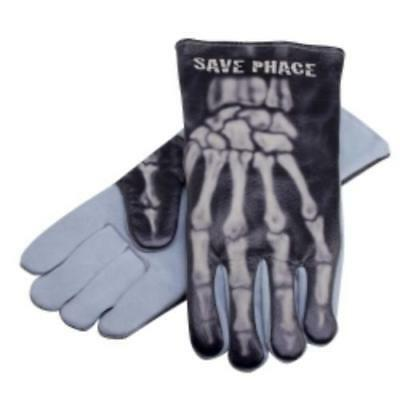 Skeleton Bones Welding Gloves Save Phace PPE Leather Apparel Gear Large/XL