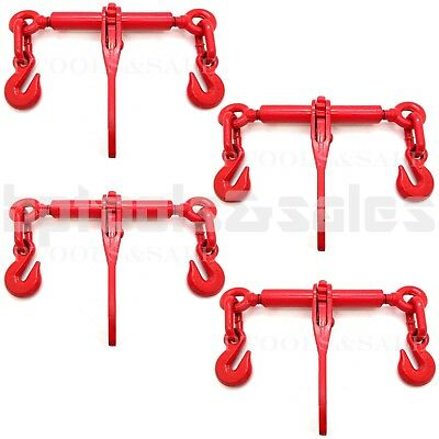 "(4) 2600 LB. 1/4"" or 5/16"" Ratchet Load Binder Chain Equipment Tie Down Rigging"
