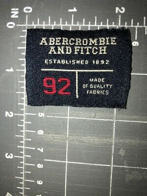 Abercrombie and Fitch Patch Tag 1892 92 A & F AF A&F Designer Clothing Fashion
