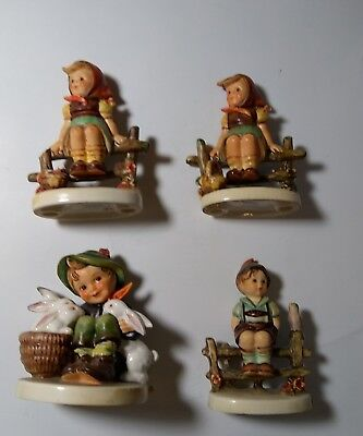 Hummel Goebel West Germany Vintage Figurines Chipped lot Of four. tmk 3 4 and 6