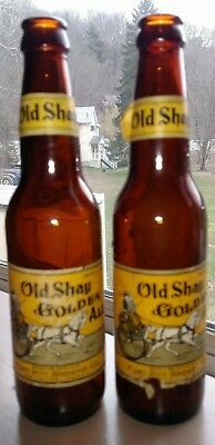 Pr. Vintage Labeled Old Shay Golden Ale bottles Fort Pitt Brewing Co Smithton PA