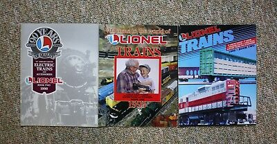 Lionel Trains 1993 Book One Catalog 1990 Book Two, 1992 Book Two (3)