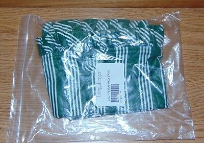 Longaberger HUNTER GREEN STRIPE 2143116 TREASURE LINER NEW
