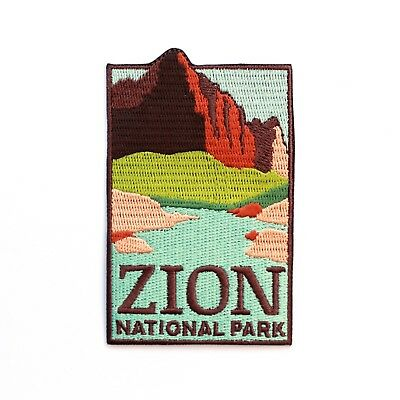 Official Zion National Park Souvenir Patch The Watchman Utah Iron on