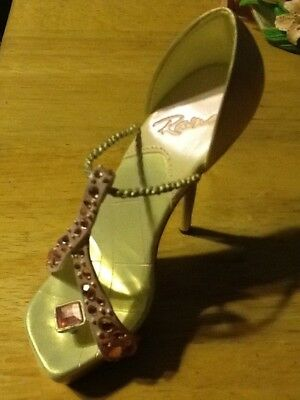 Pink Ribbon Miracle Sparkle Survivor Breast Cancer Awareness Just the Right Shoe