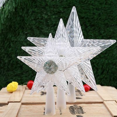 Tree Decoration Christmas Tree Topper Star LED Lamp For Party Holiday Ornament