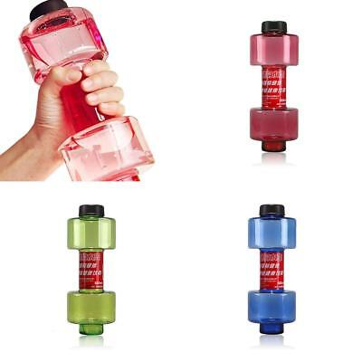 550ml Fitness Water Bottle Dumbbell Water Bottles Sealed Leakproof Cup LH