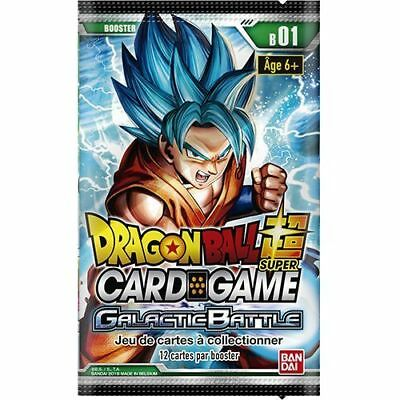 10 x Boosters Dragon Ball Super Card Game B01 Galactic Battle (Français) Neuf