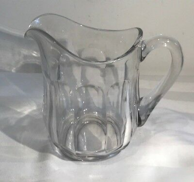 """Large Clear Glass Vintage Water Cocktail Jug Pitcher 6"""" tall"""