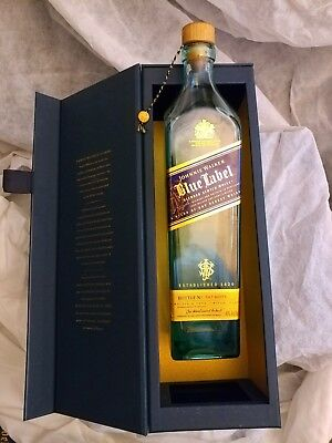 """EMPTY"" JOHNNIE WALKER BLUE LABEL (750ml) w/ SEAL & BOX"