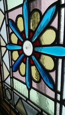 Beautiful starburst bevelled leaded glass panel