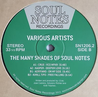 """Various - The Many Shades Of Soul Notes - 12"""" Vinyl - Soul Notes"""