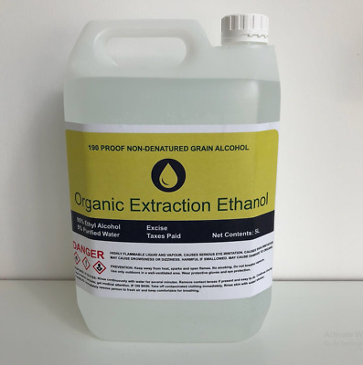 5ltr!! 95% Organic Extraction Ethanol 5L!! Made From Non-GM Organic Wheat